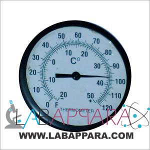 Bi- Metal Dial Type Room Temperature Thermometer Plastic Body (96mm), manufacturer, exporter, supplier, distributor, ambala, india.