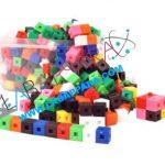 Interlocking Cubes. (1cm) 10 colors