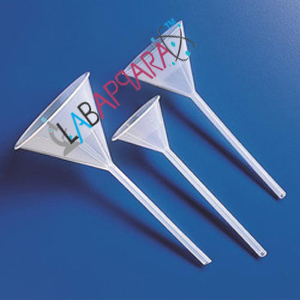 Funnel (long stem), chemistry lab instruments, Scientific Lab Instruments, manufacturer, exporter, supplier.