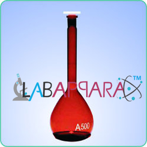 Amber Color Flask Volumetric (Measuring),laboratory glassware equipments exporters, chemistry lab instruments, Scientific Lab Instruments, Educational Instruments, lab measuring instruments, laboratory equipments, scientific instrument exporters, laboratory equipment manufacturers,