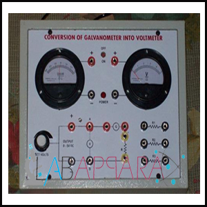 Conversion Of Galvanometer Into Voltmeter, Manufacturer, Exporter, Supplier, Distributor, ambala, india.