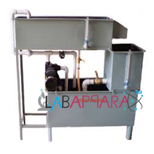 Flow Over Notches Apparatus, laboratory equipment manufacturers, Engineering instrument manufacturer, Educational Scientific Instruments, laboratory equipment wholesalers, science lab equipment, Mechanical Engineering Scientific Instruments, Laboratory equipment suppliers.