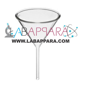 Funnel Filtering, laboratory glassware, borosilicate glass, chemistry lab instruments, laboratory glass ware equipments, Scientific Lab Instruments, Educational Instruments, Testing Lab Equipment, lab measuring instruments, laboratory equipments, scientific instrument exporters, school laboratory instruments, laboratory equipment manufacturers, Indian lab equipment exporters.