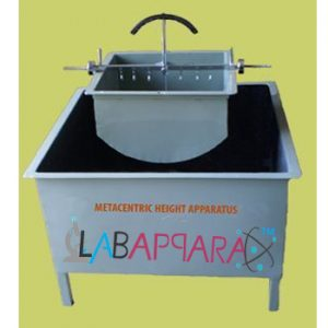 Metacentric Height Apparatus,Physics instrument, scientific equipments, educational instrument supplier, laboratory equipment manufacturers, Testing Lab Equipment, lab measuring instruments, Laboratory equipment suppliers,