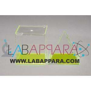 SQUARE PYRAMID & CUBE, FILLABLE, Mathematics Lab Equipments