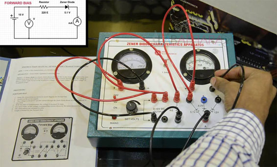 Zener Diode Experiment, Physics instrument, Educational Scientific Instruments